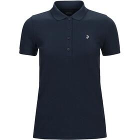Peak Performance W's Classic Pique Shirt Blue Shadow